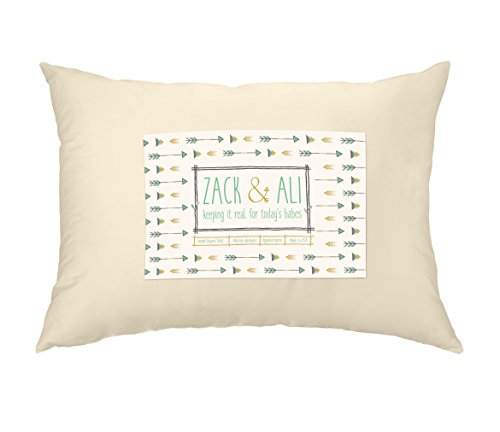 Zack & Ali Toddler Pillow, Soft 100% Organic Cotton, 13 x...