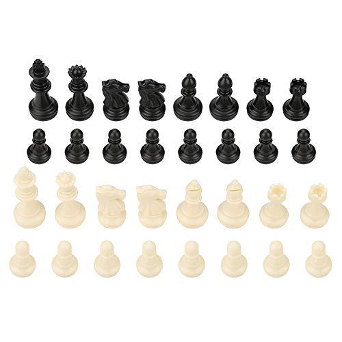 Garosa International Chess Set 32 Standard Tournament Chessmen Black White Lern Bildungsspielzeug Geschenk Brettspiele