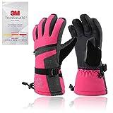 Gonex Skihandschuhe wasserdichte Winter Snowboardhandschuhe für Herren Damen Damen 3M Thermo Thinsulate Winddicht Touchscreen Handschuhe für Skifahren Wandern