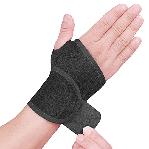 2 pcs Wrist Support Brace, Adjustable Wrist Brace Strap for Fitness, Weightlifting, Tendonitis, Carpal Tunnel Arthritis, Joint Pain Relief, Wrist Tendonitis (Black)