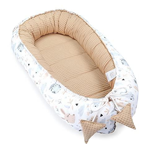 nido bebe recien nacido - reductor de cuna nidos para bebes cojin colecho marrón