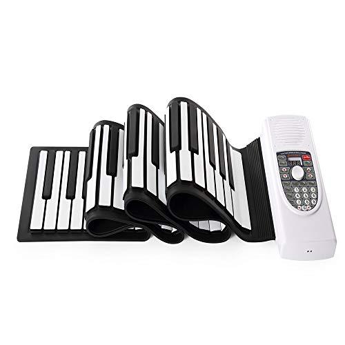 Best Deals! Saalising Hand Roll Piano Flexible Roll Up 88 Keys Keyboard 128 Maximum Polyphony Portab...