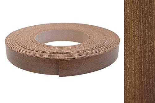 Kantenumleimer Melamin 22mm x 10m mit Schmelzkleber in Nussbaum oder Noce Dekor