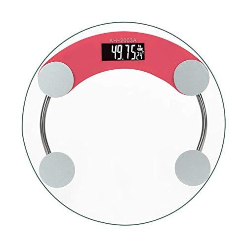 TIZHONG Pesaje de Peso Básculas electrónicas Básculas Pesadas Adultos domésticos Exactitud Pérdida de Peso del Cuerpo Humano Peso de Peso (Color : Red)