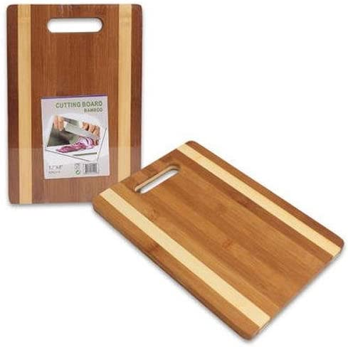 """lowest Bamboo Cutting Board 12""""X8"""" Carving Chopping Chop online Slice Dice With popular Hand Grip sale"""