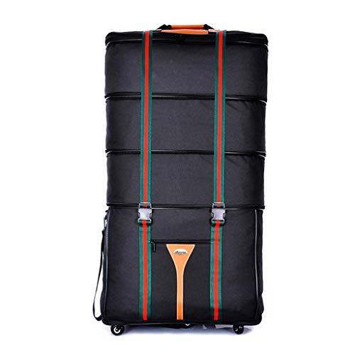 Duffel Bag mit Variabler Kapazität, 170L Large Capacity Reisetasche, Push and Pull, Handtasche, 5 Universal Rollen, Wasserdicht, Foldabl @Greawei