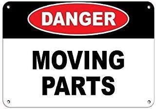 Aluminum Metal Sign Danger Moving Parts Hazard Sign Hazard Labels Aluminum Metal Sign 8x12 inch
