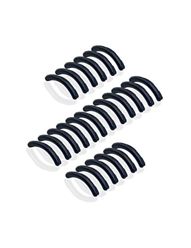Eyelash Curler Sort Rubbers - 24 Silicone Replacements Alpiriral Rubber Pads in Black