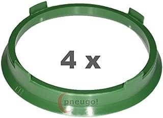 4 x Zentrierringe, Kunststoff 67.1mm auf 60.1mm grün