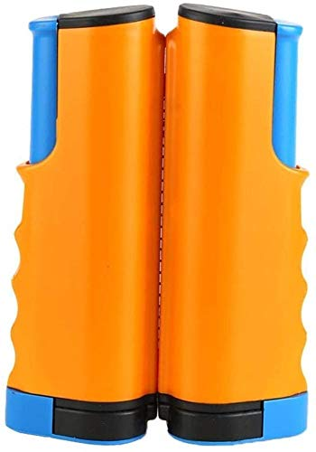 FANPING Retractable One-Piece Tischtennisnetz Post Set Clip-Befestigungsklammer Gitterhalter Tragbare Ping-Pong-Rack-Zubehör for Esstisch Startseite (Color : Orange-Blue)