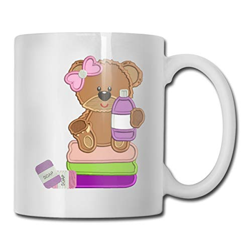 Xu Yishe Little Girl-Bear-Holding-Shampoo-Bottle Cousin Gifts Funny Cousins Day Gifts Best Ever Mothers Day Fathers Day Gifts Birthday Coffee Mugs Thea Cups