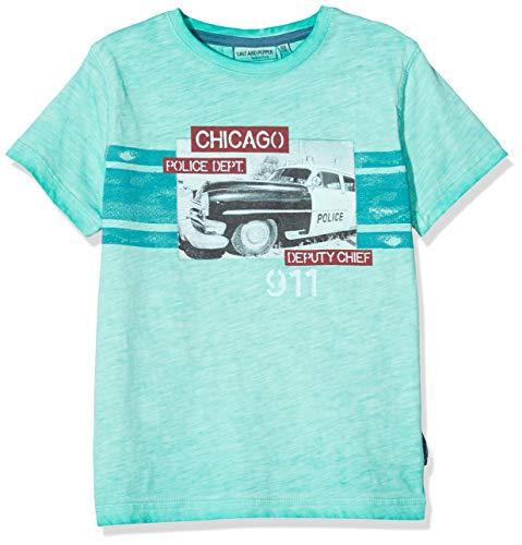 Salt & Pepper Jungen 03112190 T-Shirt, Grün (Pepper Green 645), 116 (Herstellergröße: 116/122)