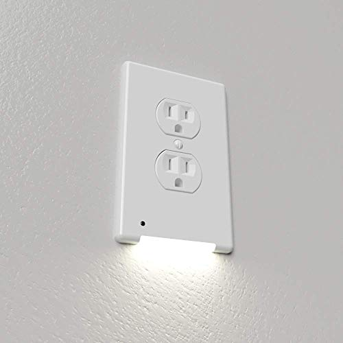 Westek LCR-CCDO-W LumiCover Core Classic Nightlight Wallplate, 1-Pack, White