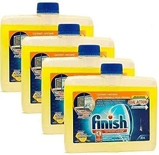 Finish 洗碗機清潔劑,8.45盎司瓶裝,雙效去油脂和水垢,新鮮柑橘(4件裝)