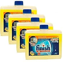 Finish Dishwasher Machine Cleaner, 8.45 fl oz Bottle, Dual Action to Fight Grease & Limescale, Citrus Fresh (Pack of 4)