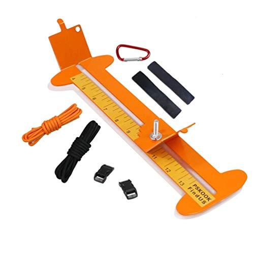 HETUI Paracord Armbänder Strickwerkzeug Armband Weben Metall Paracord Jig Maker (Orange)