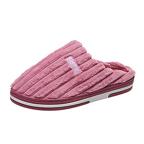Berimaterry Pantuflas Peluche Mujer Invierno Planas Suave cómodos Zapatillas Mujer casa con Punta Cerrada Invierno Zapatillas de Estar por casa Zapatillas casa Mujer Invierno Zapatos Invierno de casa