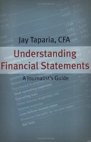Understanding Financial Statements: A Journalist's Guide