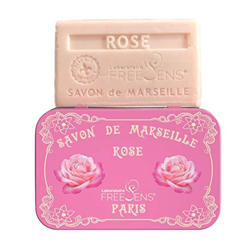FreeSens - SAVON DE MARSEILLE ROSE. Pain de 100g