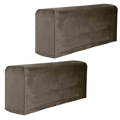 GARNECK 2 Stück Armlehnenbezüge, rutschfest, Sofa-Schonbezug, Universal-Möbelschutz, Sesselhussen (Khaki)