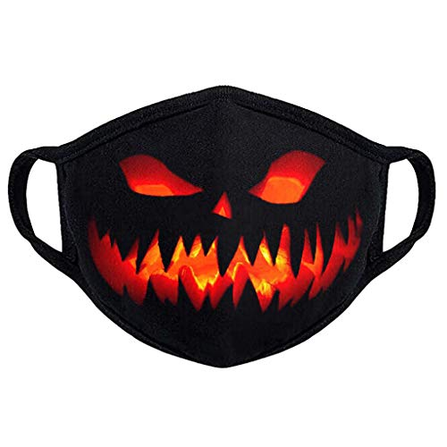 Halloween Day 1PC Adult Floral Print Adjustable Safet Protect Washable Cotton Mask For Indoor Outdoor