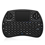 Bqeel 2.4GHz Mini Teclado inalámbrico Touchpad ratón,Batería Recargable para Raspberry Pi...