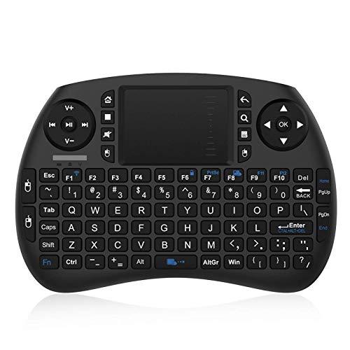 NinkBox Mini Tastiera con Touchpad Wireless Wireless Touch per Android TV Box, Mini PC Design ergonomico 92 Tasti