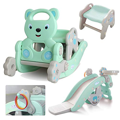 Yinguo 4 in 1 Kids Slipping Slide and Rocking Hors Suit Indoor Outdoor...