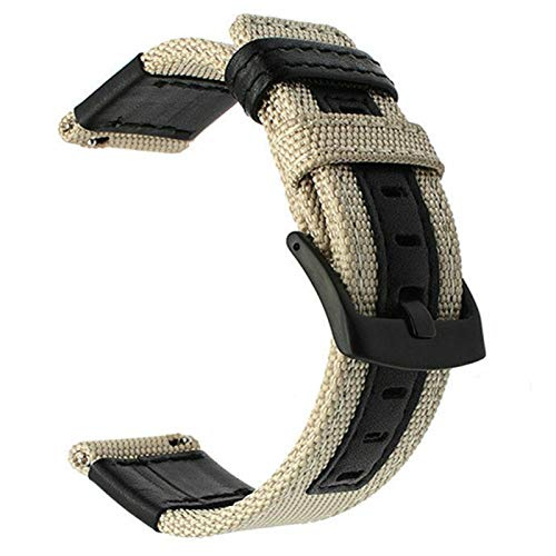 20mm 22mm reloj de reloj para Samsung Galaxy Watch 46mm 42mm correa de reloj de cuero de nylon para reloj HW GT 2 para ver GT 2E *4* (Band Color : 2, Band Width : 20mm)