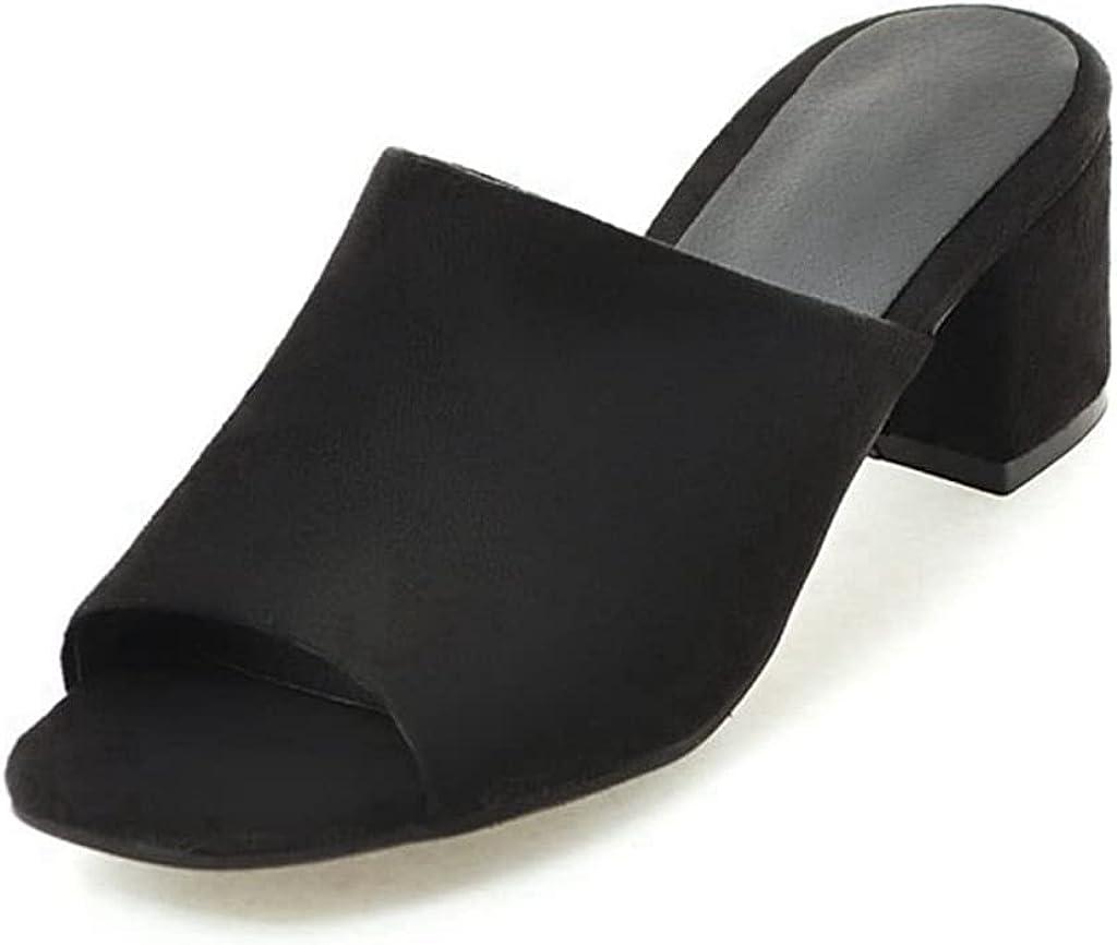 JOEUY Women's Casual Wedge Slide Sandals Platform Slip On Open Toe Comfort Summer Chunky High Heel Sandal