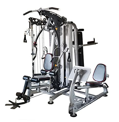 Dione Pro MG5 – Estación de fitness – Multi-Gym – Cable Crossover – con 2 pesas de metal de 75 kg – con Legpress