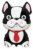 FlexMetal 901783N Black French Bulldog Shaped Foil Balloon