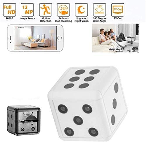 Inmindboom Würfel Mini Hidden Spy Kamera, Full 1080p tragbare kleine HD Nanny Cam mit Nachtsicht und Bewegungserkennung, verdeckte Überwachungskamera Haus für zu Hause und im Büro (Weiß)