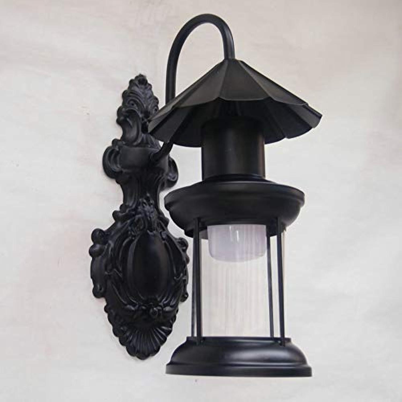 Wlxsx Personifizierte Kreative Eisenkunst-Antikenlampe Retro- Nostalgiehotelbar-Wandlampe Im Freien E
