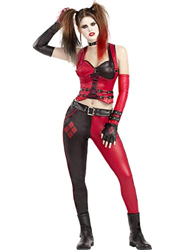 Funidelia | Disfraz de Harley Quinn - Arkham City Oficial para Mujer Talla XS Superhroes, DC Comics, Suicide Squad, Villanos - Color: Negro - Licencia: 100% Oficial