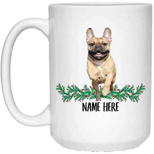 Funny Personalized Gifts French Bulldog Gold Custom Name Coffee Mug White 15oz