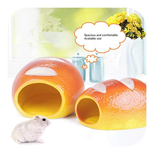 star-xing Hunde Kühlkissen Keramik Hamster Bettwäsche Versteck Nest, Chinchilla Käfig Zubehör, Sommer Coole Kleintier Haustier Nesting Habitat Käfig-Brot Form-S-,