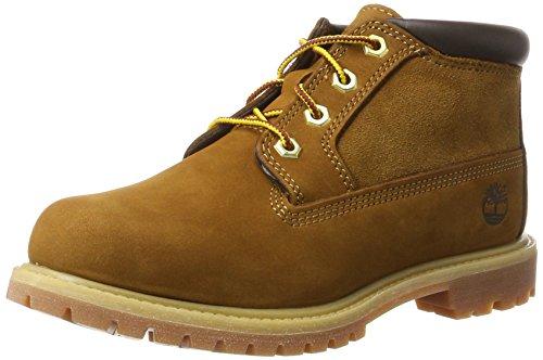 Timberland Damen Nellie Leather and Suede Non-Waterproof Chukka Boots, Braun (Rust), 40 EU