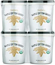 Parker's Maple Organic Maple Cotton Candy, 2 Ounce (56g), 4 Count