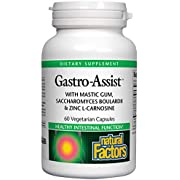 Natural Factors, Gastro-Assist, Help Relieve Indigestion, Bloating and Constipation, Digestive Supplement, Vegan, 60 Capsules (30 Servings)