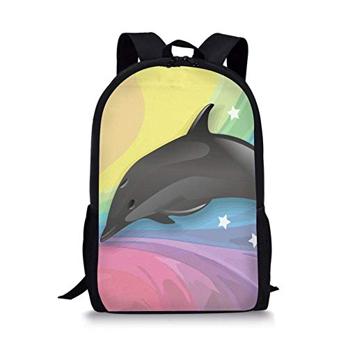3D Backpack Dog Picture, Schoolbag Cute Cartoon Animal Backpack Backpack, Casual Lightweight Hiking Rucksacks 44 * 28 * 13CM G
