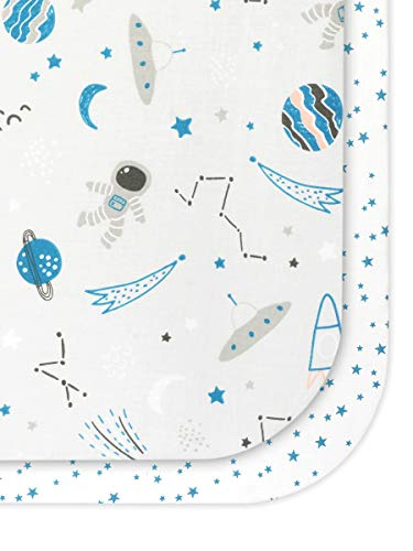 FlyIdeas Juego 2 Pza Sabanas Minicuna Colecho 50x90 cm | 2 Sábanas Bajeras Compatible con Kinderkraft Neste FABIMAX WALDIN FILLIKID - 100% Algodon Organico Oeko-Tex Made in EU