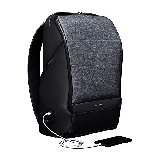 FlexPack Pro,Funktioneller Diebstahlschutz-Wasserdichte Laptop Rucksack 15.6 Zoll Business Daypack Für Reisen,Schwarz