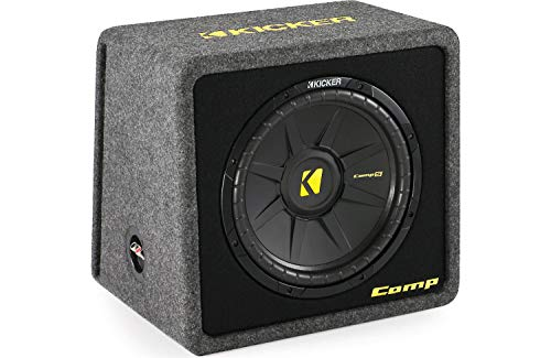 kicker car subwoofers Kicker VCompS122(40CWS 122)12 inch compS Series Angled Vented Loaded SubWoofer Enclosure