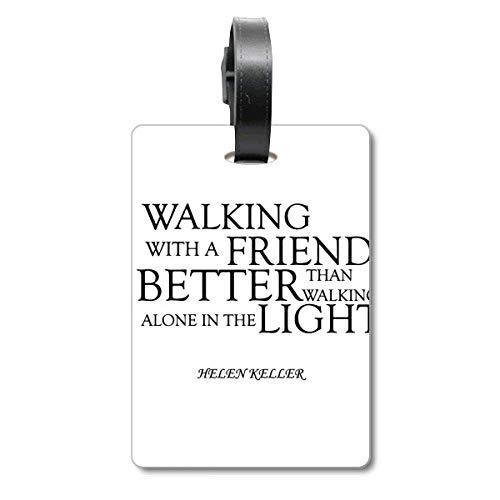 Helen Keller Reisegepäckanhänger mit Zitat über Freundschaft