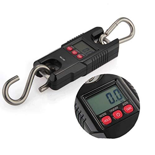 ZCXBHD 300 kg / 0,1 kg hoge precisie mini elektronische weegschaal draagbaar hangend wegen varken Vieh haak roestvrij stalen haakweegschaal
