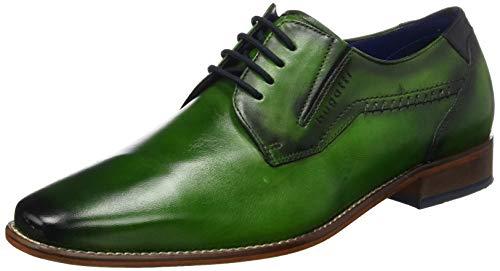 bugatti 311697014100, Scarpe Stringate Derby Uomo, Verde (Green 7000), 42 EU