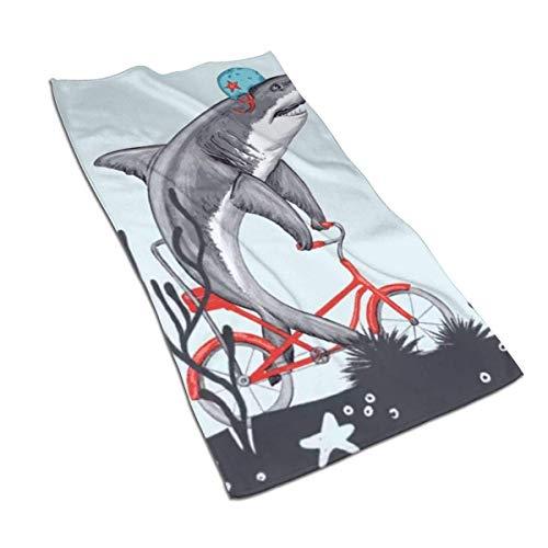 U/K Toalla de mano de tiburón, toalla de baño, suave, absorbente, toalla de cocina, plato de invitados, toalla de baño, decoración para el hogar