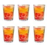 UNISHOP Set de 6 Vasos de Agua de 50cl, Vasos de Cristal Transparentes, Aptos para Lavavajillas y Microondas