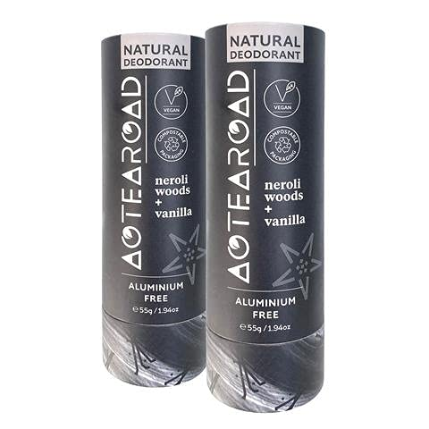 Aotearoad Desodorante natural – Duo, Neroli Woods y vainilla. Vegano, Ecológico, hecho a mano en Nueva Zelanda